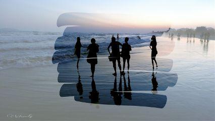 cute love people summer beach freetoedit