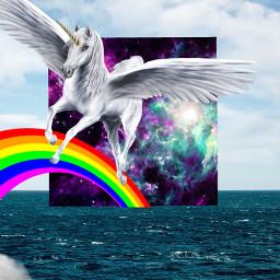freetoedit pegasus galaxy rainbow cloud