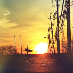 ridinintothesun editedphotos photosbyme jerseylovin sunset