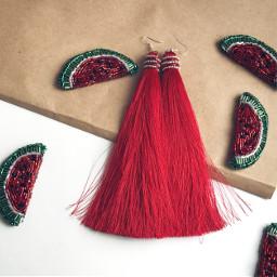 freetoedit watermalon tassel handmade tassels