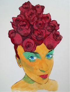 drawing acrylic theprometeus colorful