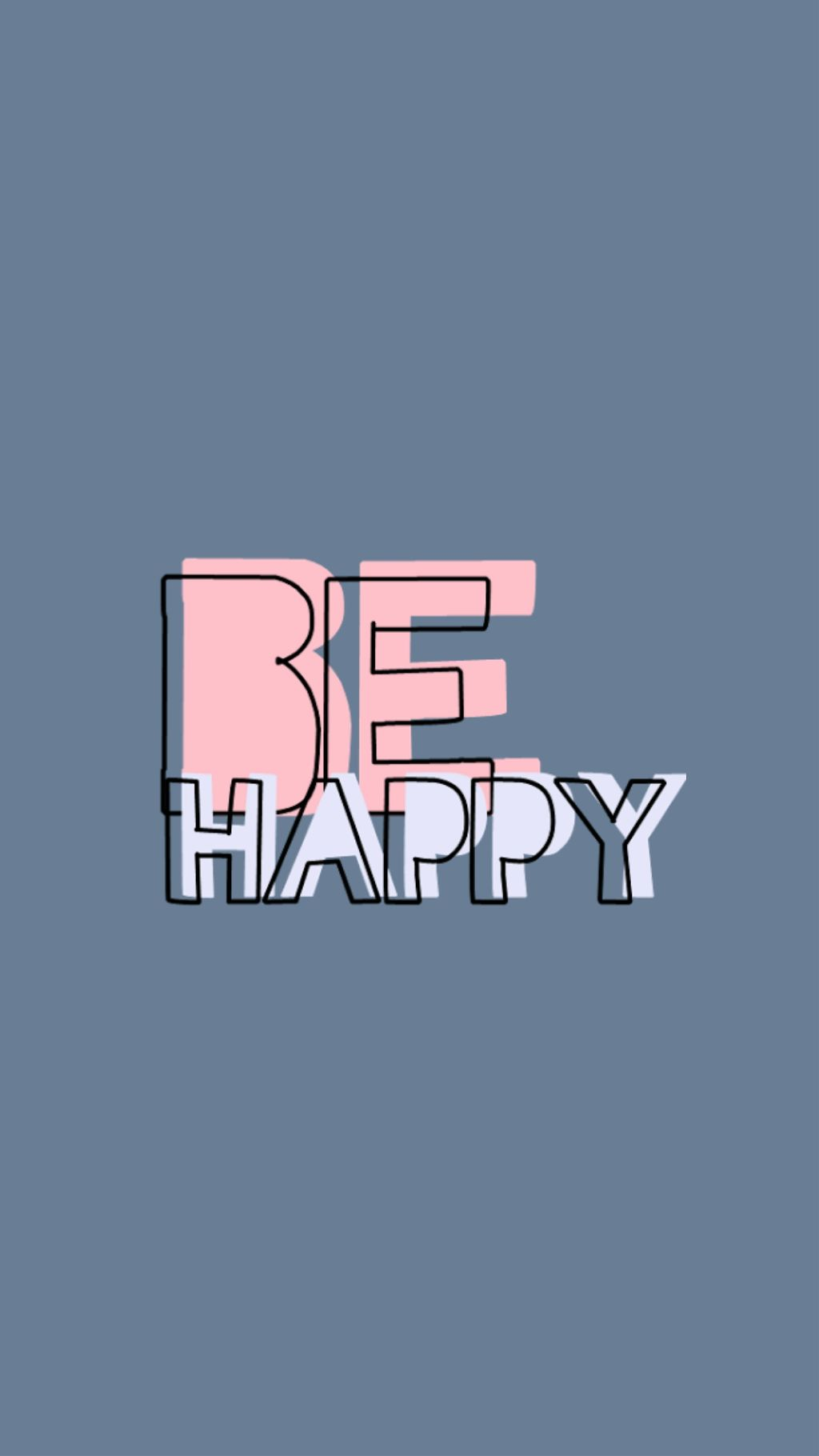 FreeToEdit wallpaper blue pink quotes behappy cute beau...