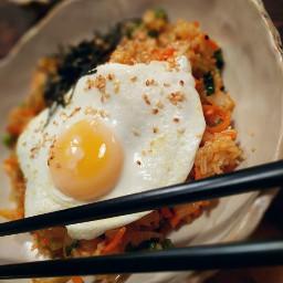 vegetarian friedrice eggs bowlfood dinnerfortwo