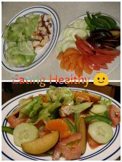 food fruits vegetables salad eating