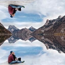 freetoedit reflection mirror nature love