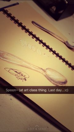 spoon draw myart wolfiesart shading