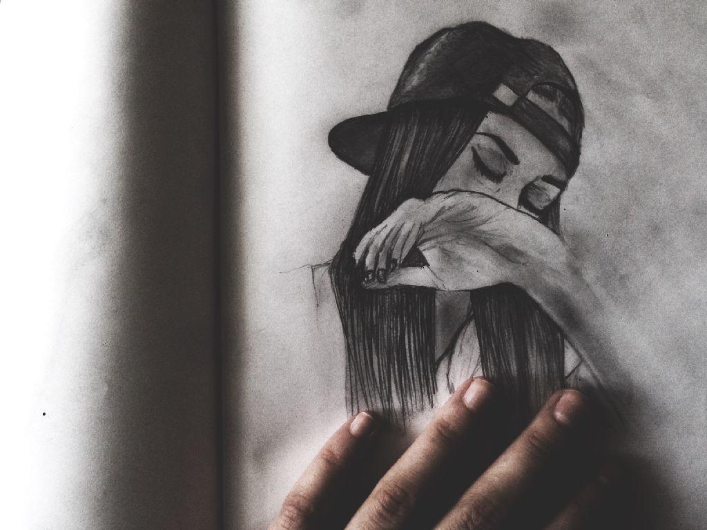 Drawing Tumblr Tumblrgirl Snapback Hand Emotions Art