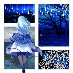 blue ocean lights anime
