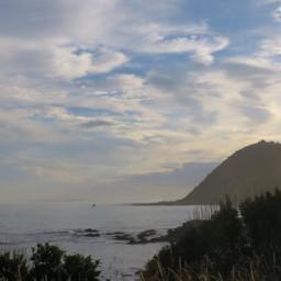 beach nature evening travel newzealand