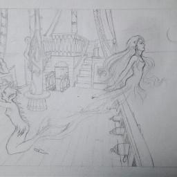 draw drawing art illustration mermaid