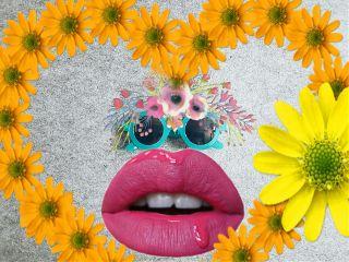 freetoedit glassesremix flowers flower lips