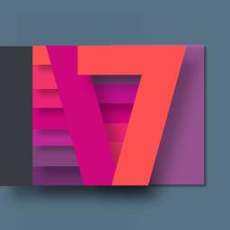 17 abstract design shape orange