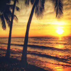 sunset beach photography picsart indonesia freetoedit