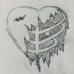 heart sad hurt pencilart art freetoedit