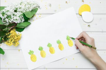 freetoedit pineapples flowers paper pencil