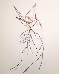 drawing ink origami theprometeus