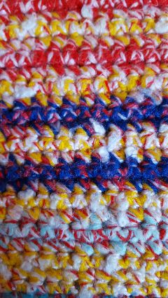 crocheting blanket handcrafted colorful hobby