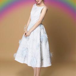 freetoedit remixit rainbow girl 1000followers