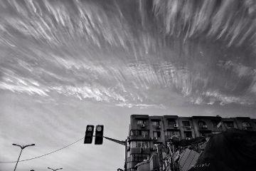 blackandwhite sky streetphotography urban freetoedit