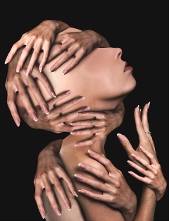 hands surreal creativeportrait