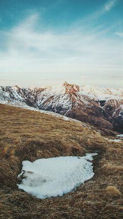 besutiful swiss mountain. it sunset. freetoedit