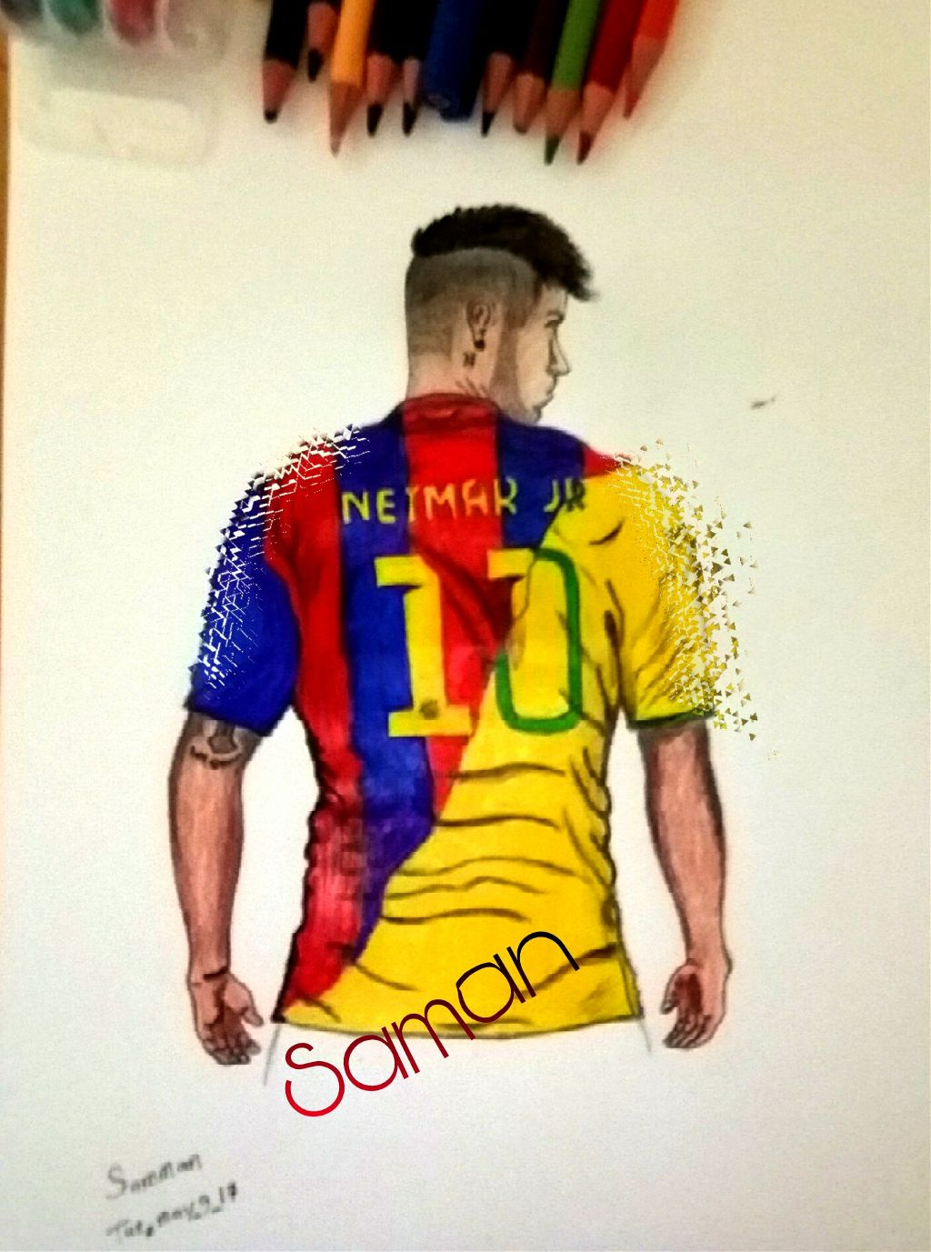 ae7f7e74073  FreeToEdit  neymar  drawing  draw  pictures  picsart  painting  colors