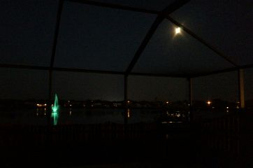 lake night dark moon photography