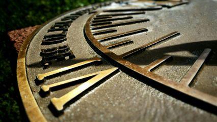 sundial memorialgarden romannumerals