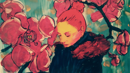 acrylic ink theprometeus portrait watercolour